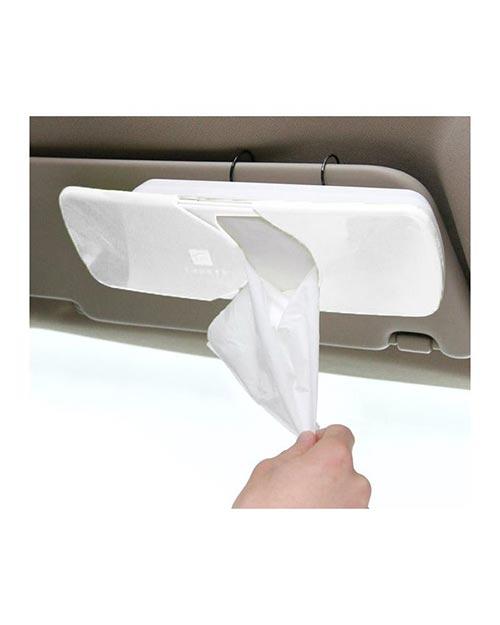 جا دستمال کاغذی خودرو (سفید)